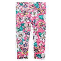 Toddler Girl Carter's Bright Floral Pattern Leggings
