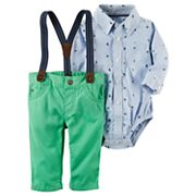 Baby Boy Carter's Bodysuit & Pants with Suspenders Set