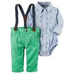 Baby Boy Carter's Bodysuit & Pants with Suspenders Set