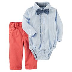 Baby Boy Carter's Bodysuit with Bowtie & Pants Set