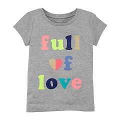 Toddler Girl Carter's 'Full of Love' Glitter Graphic Tee