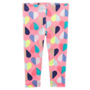 Toddler Girl Carter's Multi-Colored Hearts Capri Leggings