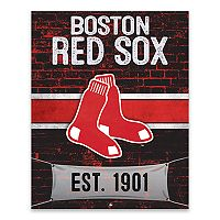 Boston Red Sox Brickyard Canvas Wall Art