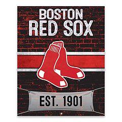Boston Red Sox Brickyard Canvas Wall Art