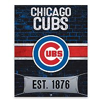 Chicago Cubs Brickyard Canvas Wall Art