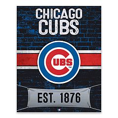 Chicago Cubs Brickyard Canvas Wall Art
