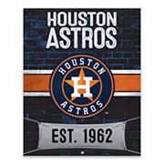 Houston Astros Brickyard Canvas Wall Art