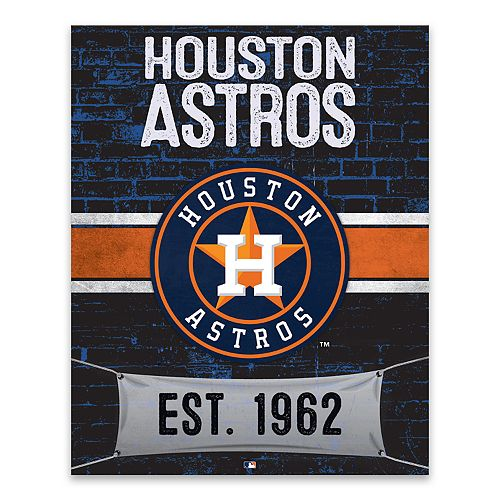 Houston Astros Brickyard Canvas Wall Art