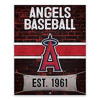 Los Angeles Angels of Anaheim Brickyard Canvas Wall Art