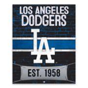 Los Angeles Dodgers Brickyard Canvas Wall Art