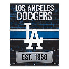 Los Angeles Dodgers Brickyard Canvas Wall Art