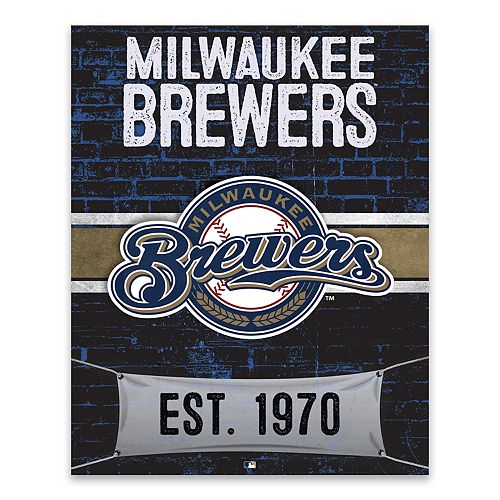Milwaukee Brewers Brickyard Canvas Wall Art