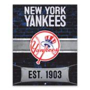 New York Yankees Brickyard Canvas Wall Art