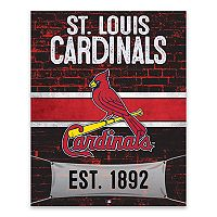 St. Louis Cardinals Brickyard Canvas Wall Art
