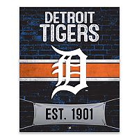 Detroit Tigers Brickyard Canvas Wall Art