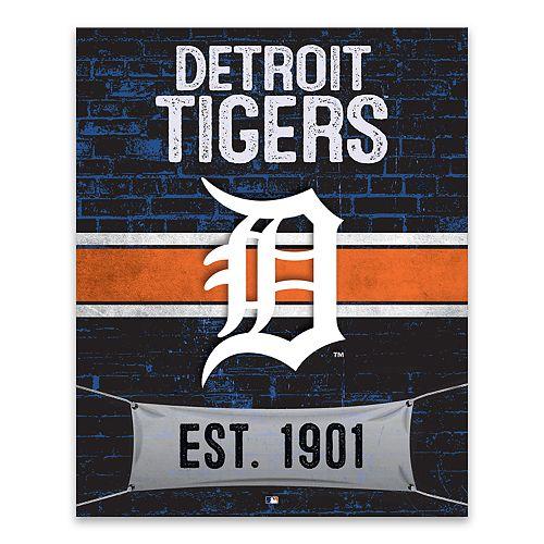 Detroit Tigers Brickyard Canvas Wall Art