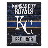 Kansas City Royals Brickyard Canvas Wall Art