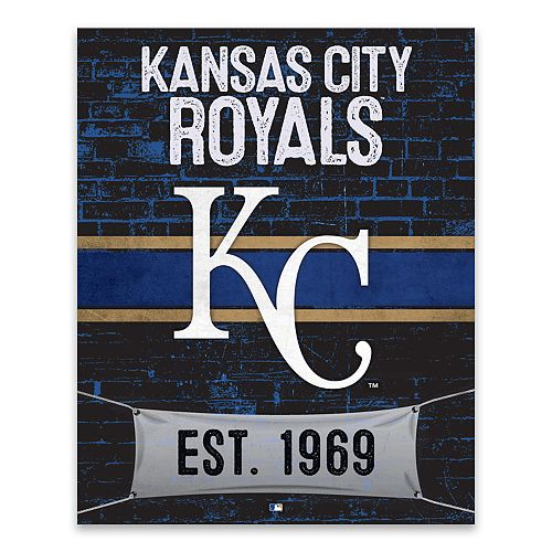 Kansas City Royals Brickyard Canvas Wall Art