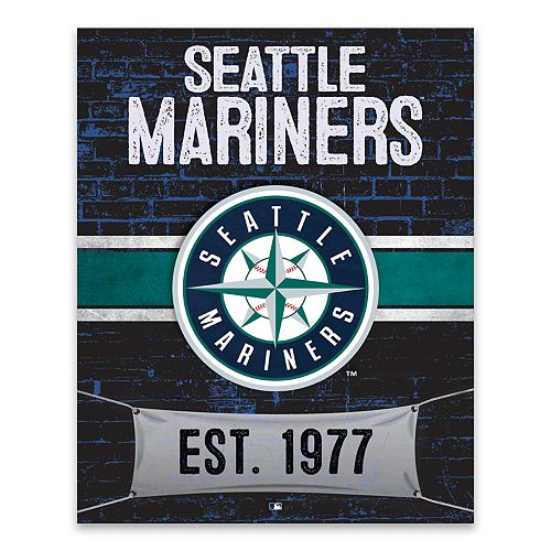 Seattle Mariners Brickyard Canvas Wall Art