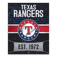 Texas Rangers Brickyard Canvas Wall Art
