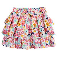 Girls 4-12 SONOMA Goods for Life™ Patterned Tiered Ruffle Skort