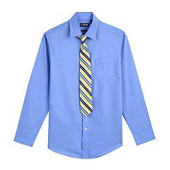 Boys 4-18 Chaps Shirt & Tie Set