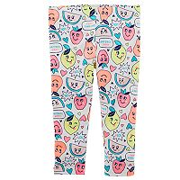 Toddler Girl Carter's Punny Fruit Graphic Capri Leggings