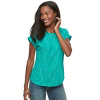 Women's Apt. 9® Mixed-Media Crepe Tee