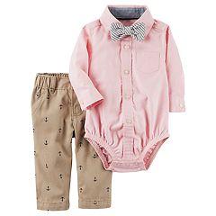 Baby Boy Carter's Bodysuit with Bowtie & Anchor Pants Set
