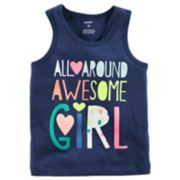 """Toddler Girl Carter's """"All-Around Awesome Girl"""" Tank Top"""