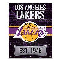 Los Angeles Lakers Brickyard Canvas Wall Art