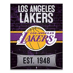 Los Angeles Lakers Brickyard Canvas Wall Art