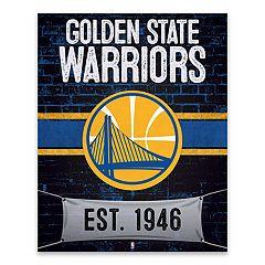 Golden State Warriors Brickyard Canvas Wall Art