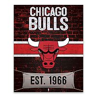 Chicago Bulls Brickyard Canvas Wall Art