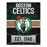 Boston Celtics Brickyard Canvas Wall Art