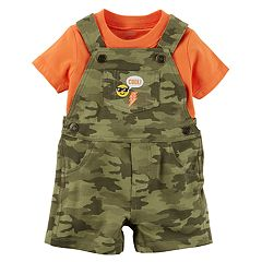 Baby Boy Carter's Tee & Camouflaged Shortalls Set