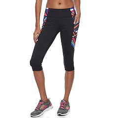 Women's FILA SPORT® Side Pocket Graphic Capri Leggings