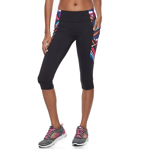 19d488a37a12f9 Women's FILA SPORT® Side Pocket Graphic Capri Leggings