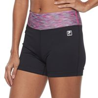 Women's FILA SPORT® Ribbed Waist Workout Shorts
