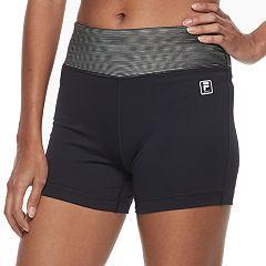 Women's FILA SPORT® Ribbed Waist Workout Shorts