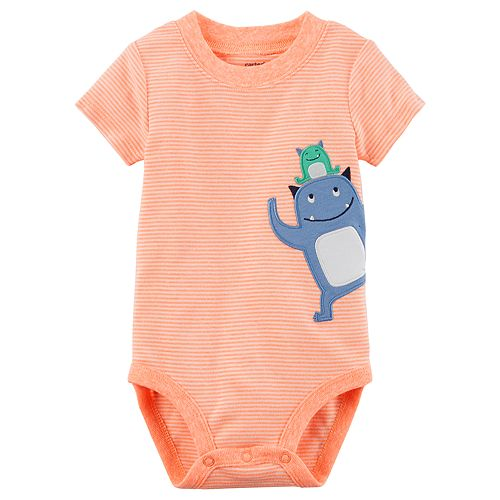 Baby Boy Carter's Striped Monster Bodysuit
