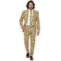 Men's OppoSuits Slim-Fit Confetteroni Novelty Suit & Tie Set
