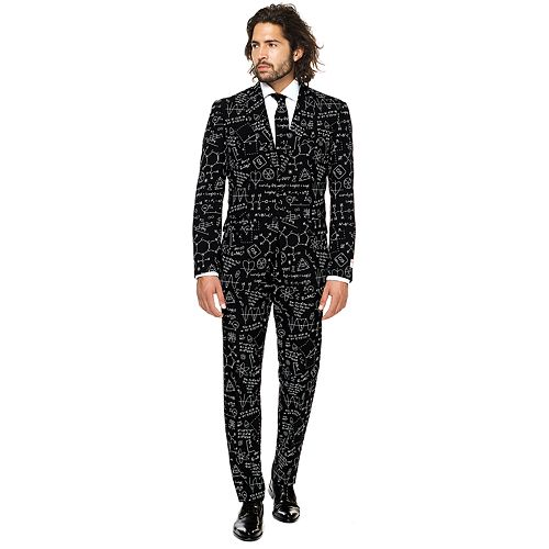 Men's OppoSuits Slim-Fit Science Faction Novelty Suit & Tie Set