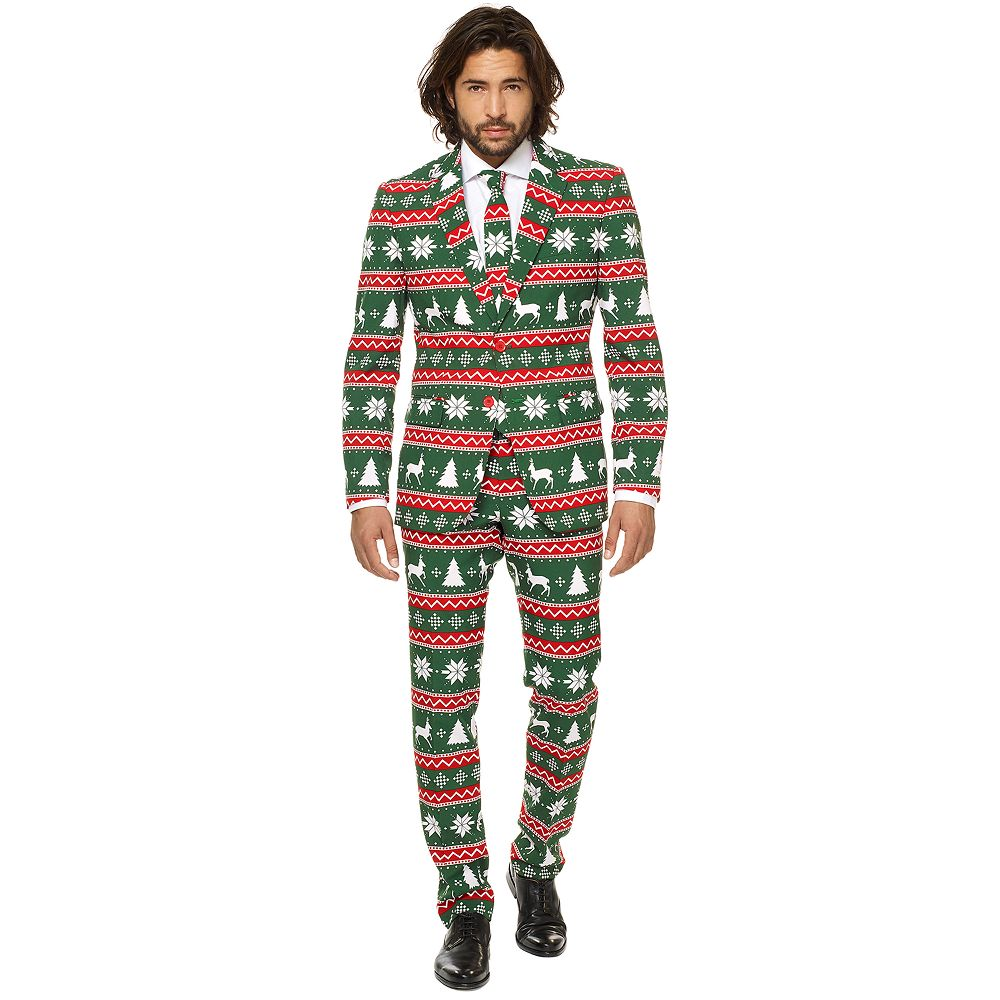 aa2143fea16782 Men's OppoSuits Slim-Fit Festive Green Novelty Suit & Tie Set