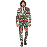 Men's OppoSuits Slim-Fit Science Festive Green Novelty Suit & Tie Set