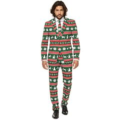 Men's OppoSuits Slim-Fit Festive Green Novelty Suit & Tie Set
