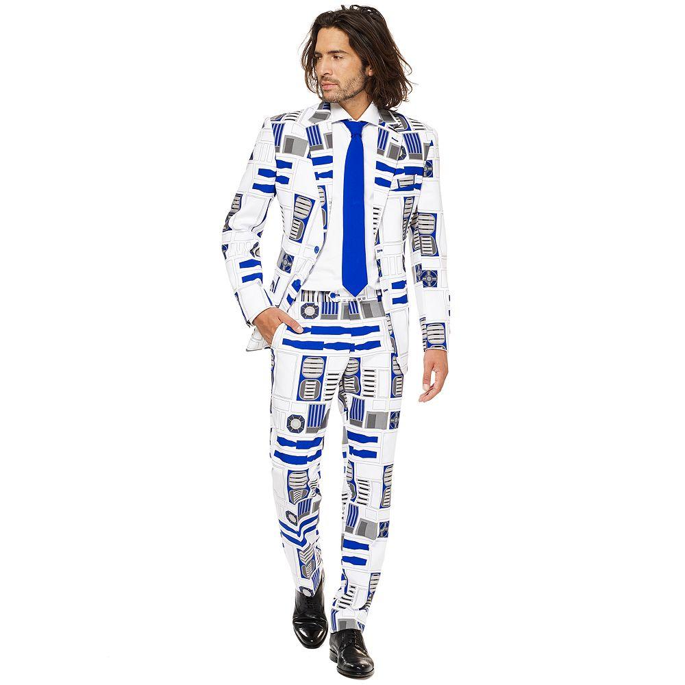 Men\'s OppoSuits Slim-Fit Star Wars R2-D2 Novelty Suit & Tie Set