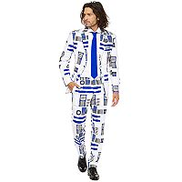 Men's OppoSuits Slim-Fit Star Wars R2-D2 Novelty Suit & Tie Set
