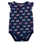 Baby Girl Carter's Sunglasses Slubbed Bodysuit