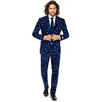 Men's OppoSuits Slim-Fit Star Wars Starry Side Novelty Suit & Tie Set